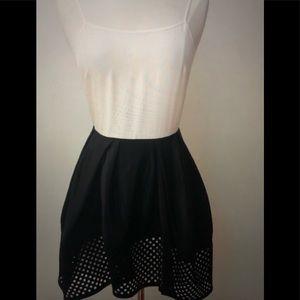 ❤️3.1 Phillip Lim White Silk Black Skirt Dress 2